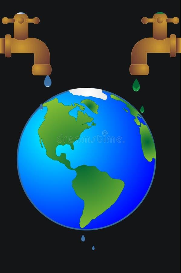 Revitialization conceptuel du monde. illustration stock