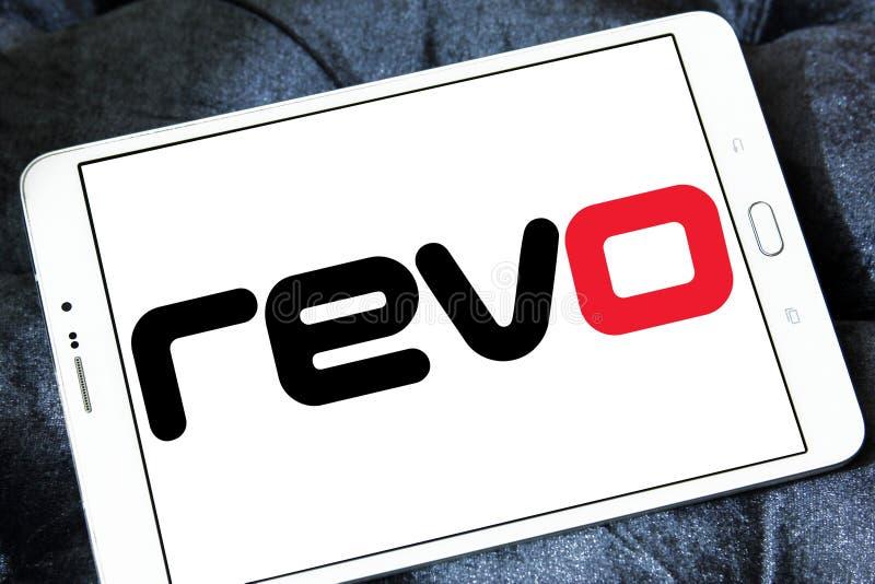 Revo företagslogo royaltyfria foton