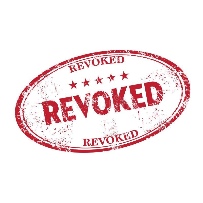 Revoked grunge rubber stamp stock photos