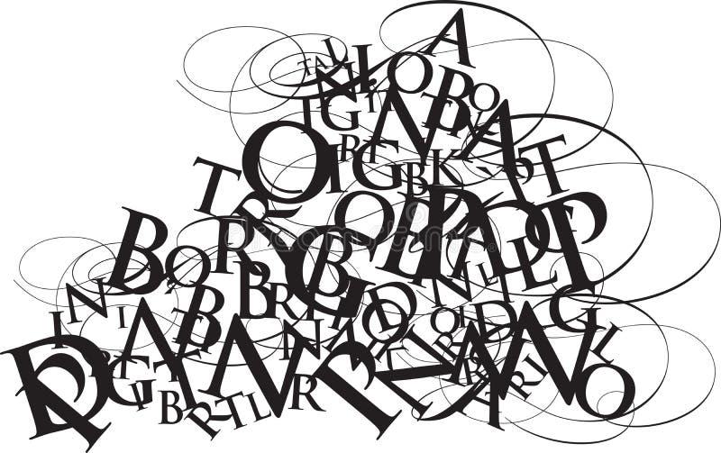 Revoltijo de la tipografía ilustración del vector