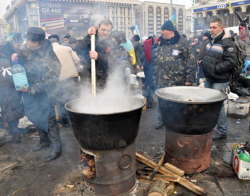 Revolução Advantages_10 de Kyiv Maidan foto de stock