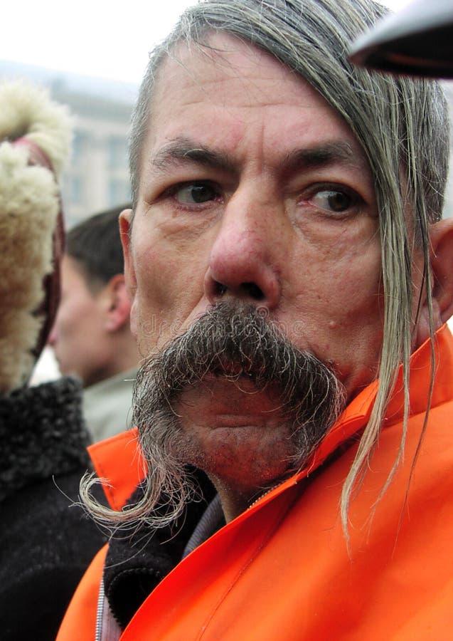 A revolução alaranjada no _23 de Kyiv em 2004 fotografia de stock royalty free