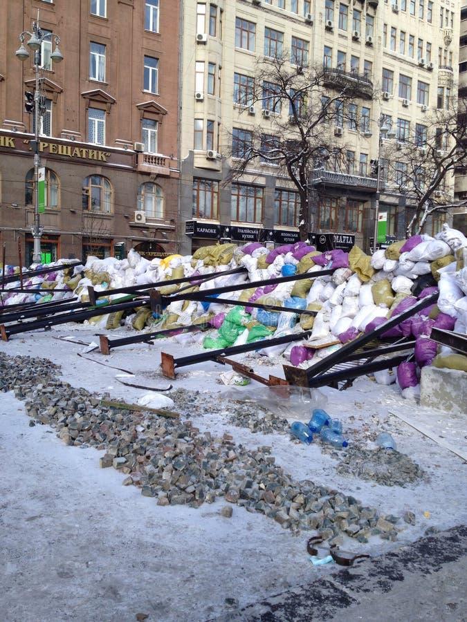 Revolução de Ucrânia foto de stock