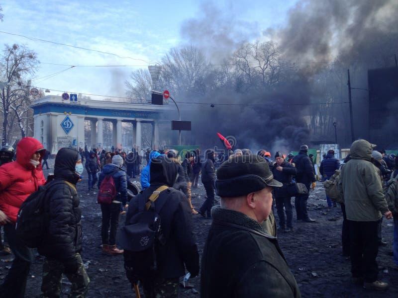 Revolução de Ucrânia foto de stock royalty free