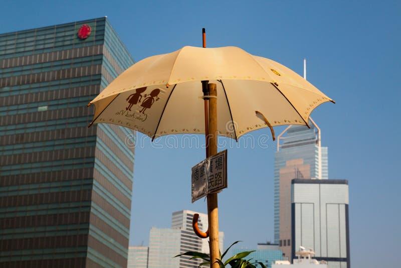 Revolução do guarda-chuva em Hong Kong fotos de stock