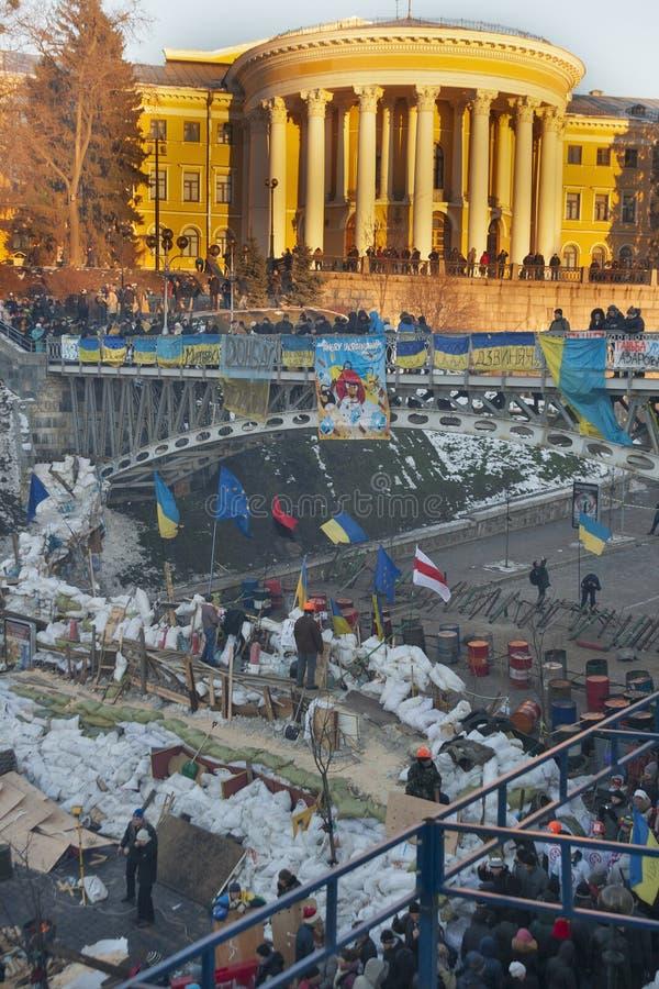 Revolução em Ucrânia. EuroMaidan. foto de stock