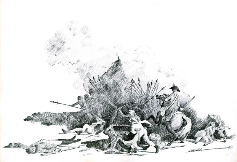Revolução Francesa ilustração stock