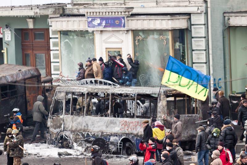 Revolução Ucrânia foto de stock