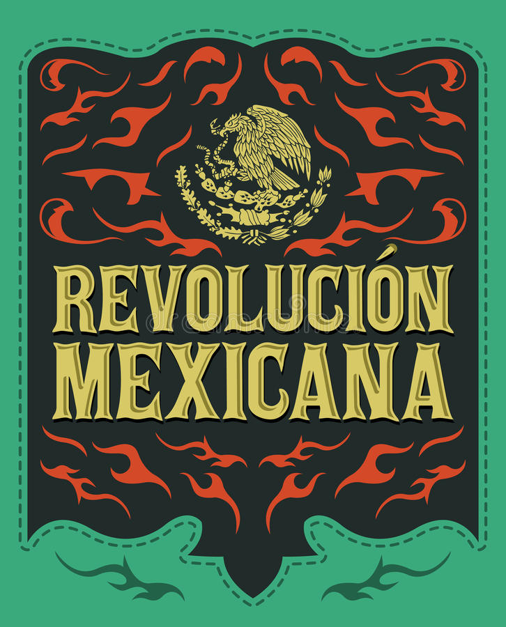 Revolucion Mexicana - mexican revolution spanish text royalty free illustration