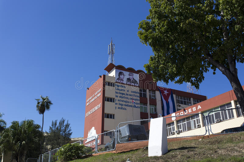 Revolucion propaganda billboard posted by the goverment royalty free stock photos