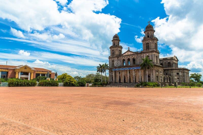 Revolucion Square Managua Nicaragua. The big square full of history in Managua Nicaragua royalty free stock photo