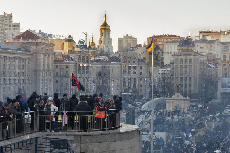 Revolutie in de Oekraïne. EuroMaidan. stock foto's
