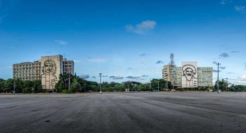 Revolutie Square Plaza DE La Revolucion - Havana, Cuba stock afbeeldingen