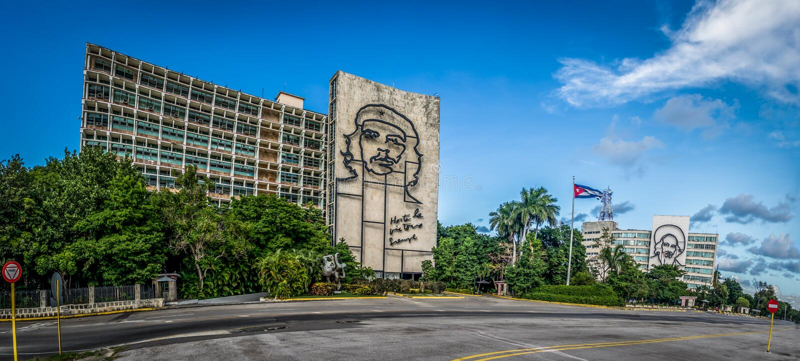 Revolutie Square Plaza DE La Revolucion - Havana, Cuba royalty-vrije stock foto