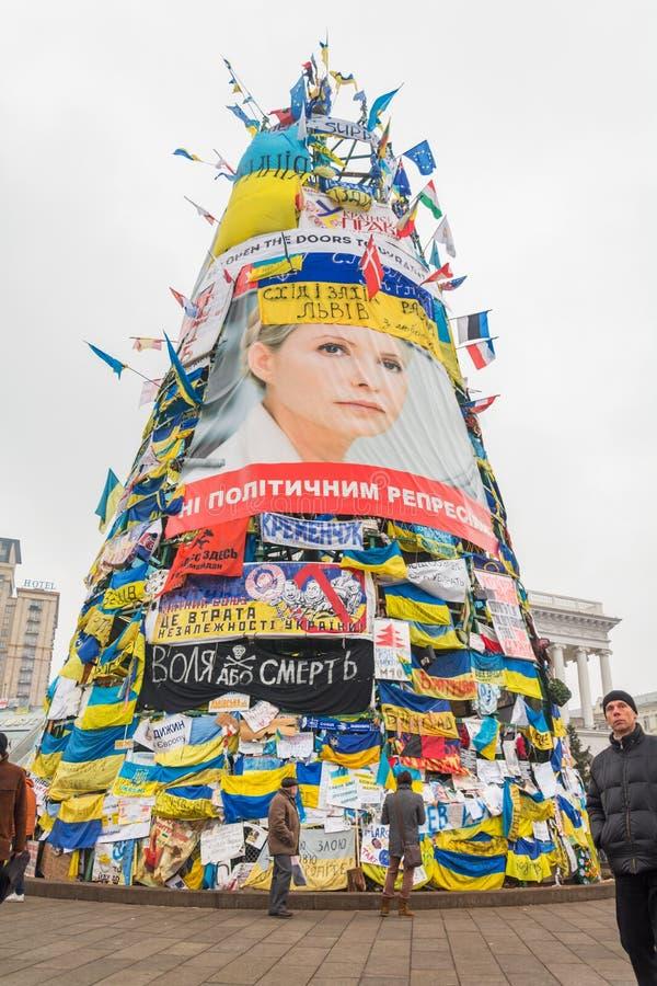 Revolutionär jul i Kiev, Ukraina arkivbilder