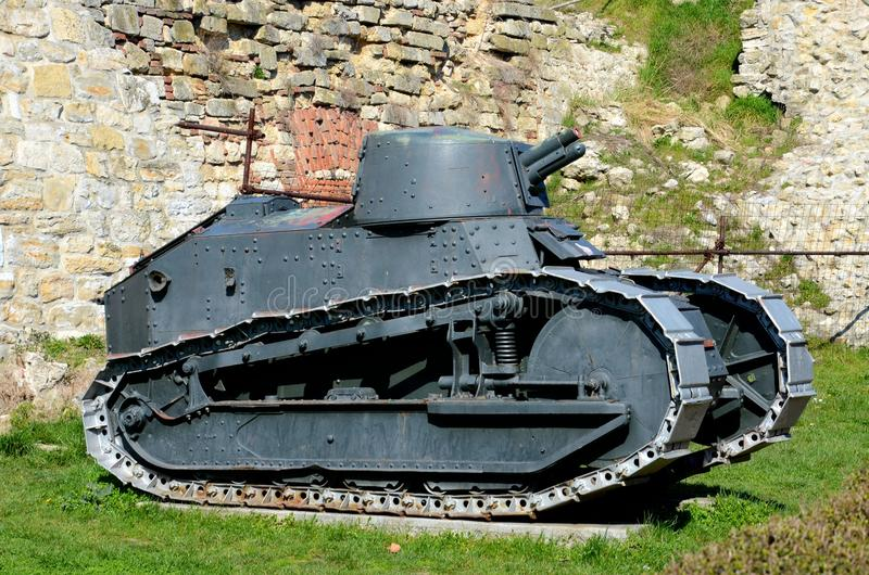 Revolutionäres heller Behälter Franzose-Renaults FT 17 Belgrad-Militärmuseum Serbien stockfotografie