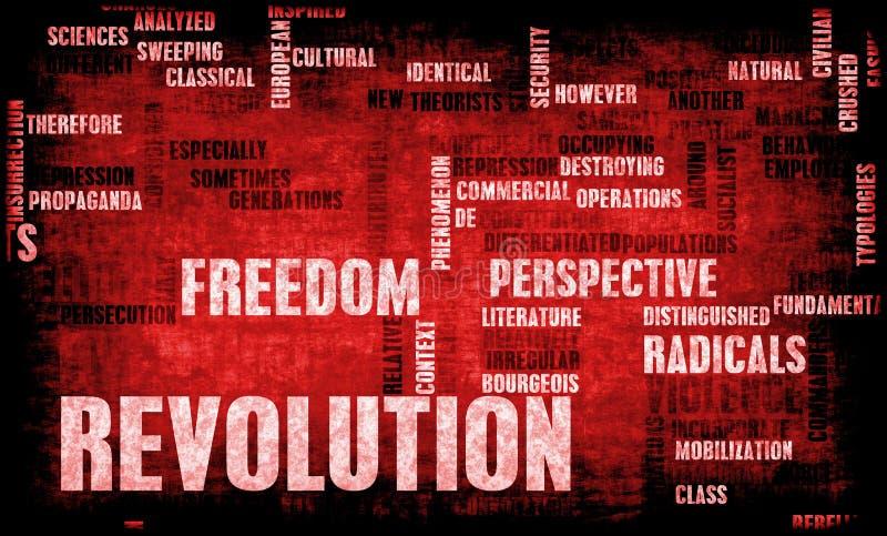 Revolution. In Political or Technical Concept Art stock illustration