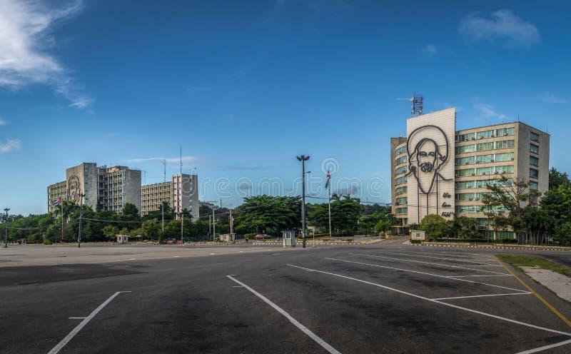 Revolution fyrkantiga Plaza de la Revolucion - havannacigarr, Kuba arkivbild