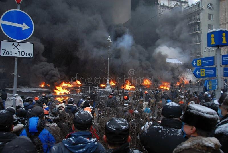Revolution i Ukraina arkivfoton