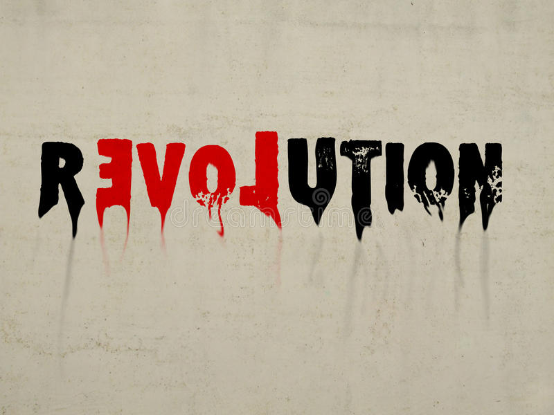 Revolution With Love Concept Text Royalty Free Stock Photos