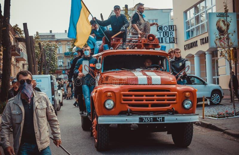 Revolution in Odessa stock photo