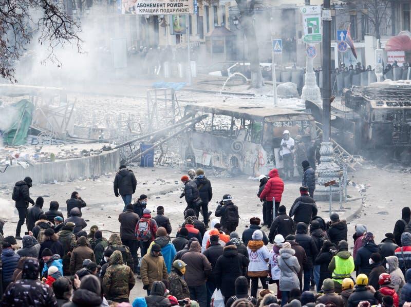 Revolution Ukraina arkivbild