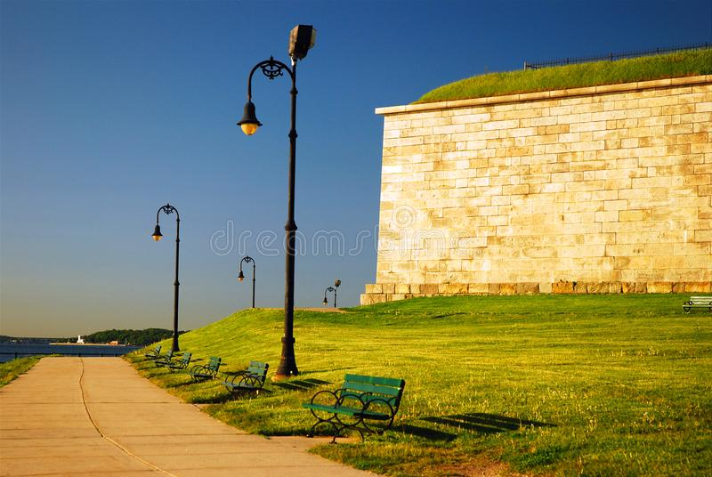 Fort Independence, Castle Island stock image