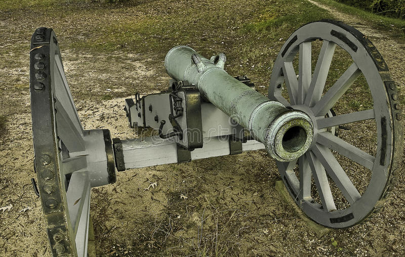 Revolutionary War Cannon stock photo. Image of battlefield ...