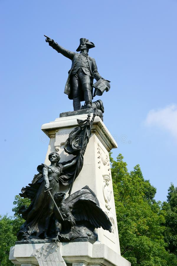 Free Revolutionary War Hero Points The Way Stock Images - 103154694