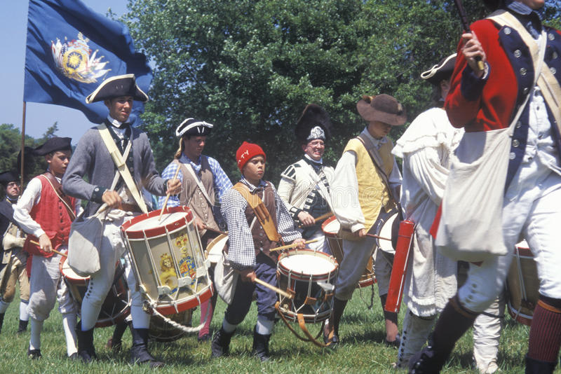 Revolutionary War Reenactment. Freehold, NJ, 218th Anniversary of Battle of Monmouth,1778 royalty free stock photo