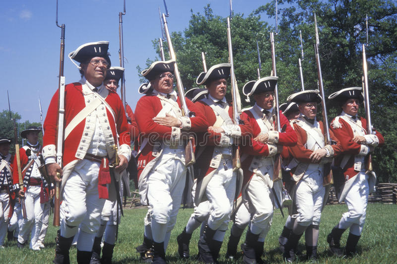 Revolutionary War Reenactment,. Freehold, New Jersey, 218th Anniversary of Battle of Monmouth, 1782 stock image