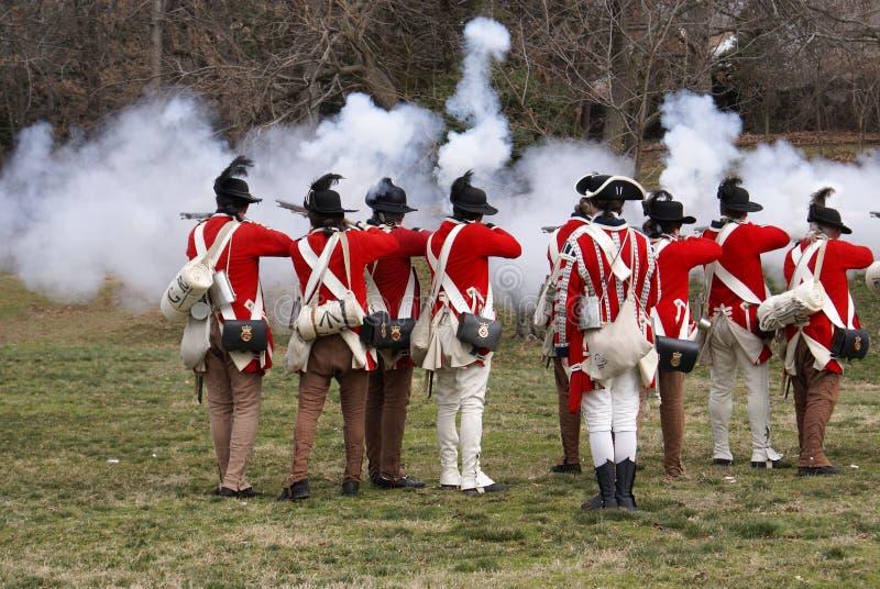 Revolutionary war reenactment royalty free stock photography