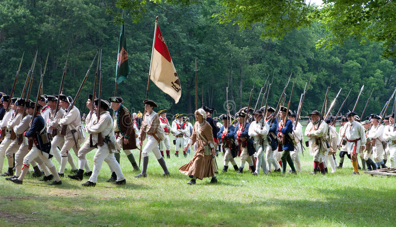 Download Revolutionary War Reenactment Editorial Stock Image - Image of travel, president: 9995774