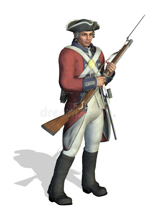 Free Revolutionary War Soldier Stock Image - 13792671