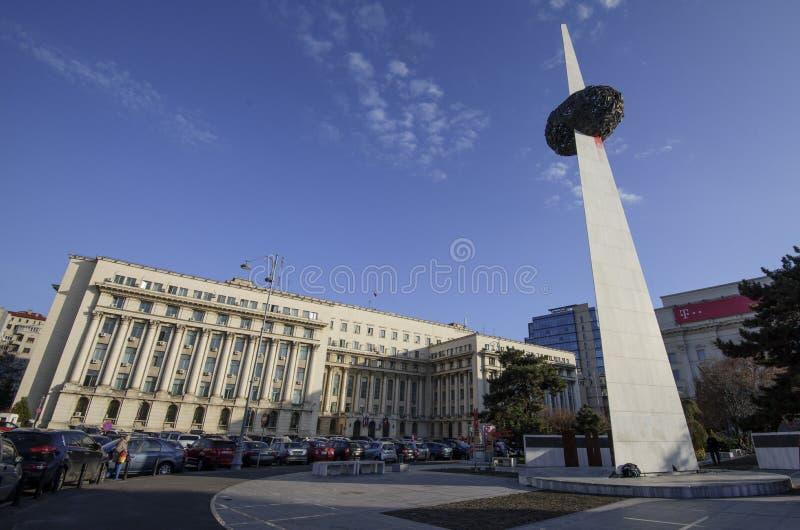 Revolutionfyrkant i Bucharest arkivfoton