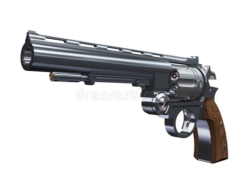 Revolver. Revolver Pistol Military equipment Weapon 2 royalty free illustration