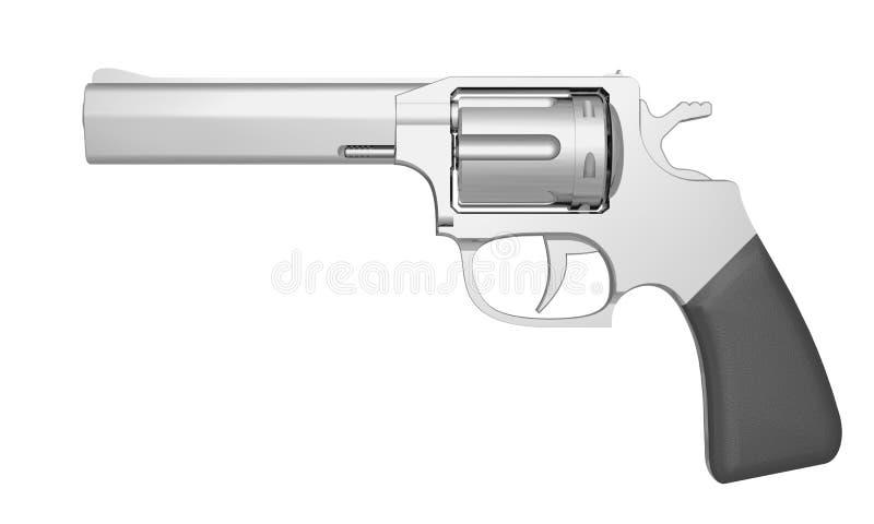Download Revolver stock illustration. Image of handgun, crime - 21524759