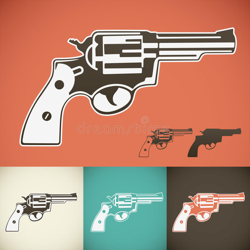 Download Revolver stock vector. Image of protection, antique, 1900 - 28670503