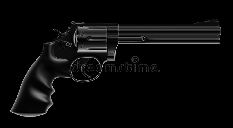 Download Revolver stock illustration. Image of silhouette, background - 3176844