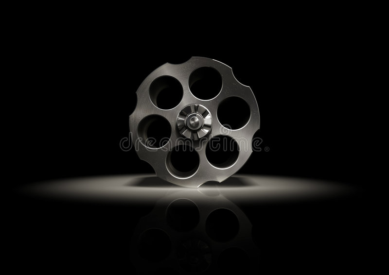 Revolver stock illustration