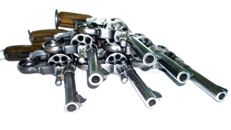 Revolver - arme de mêlée image libre de droits