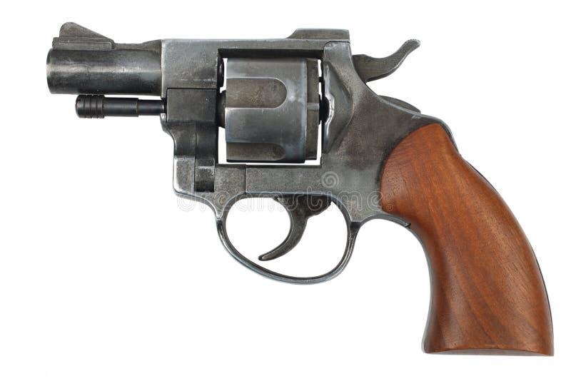 Revolver d'isolement sur le blanc image stock