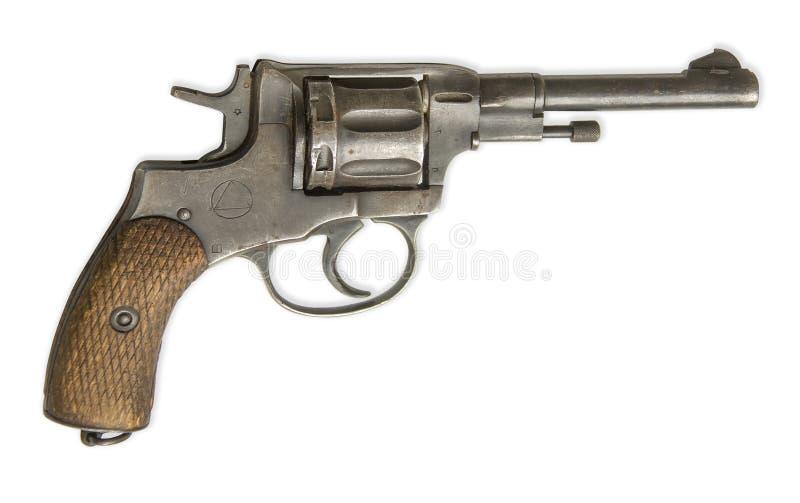 Revolver d'isolement sur le blanc photo stock