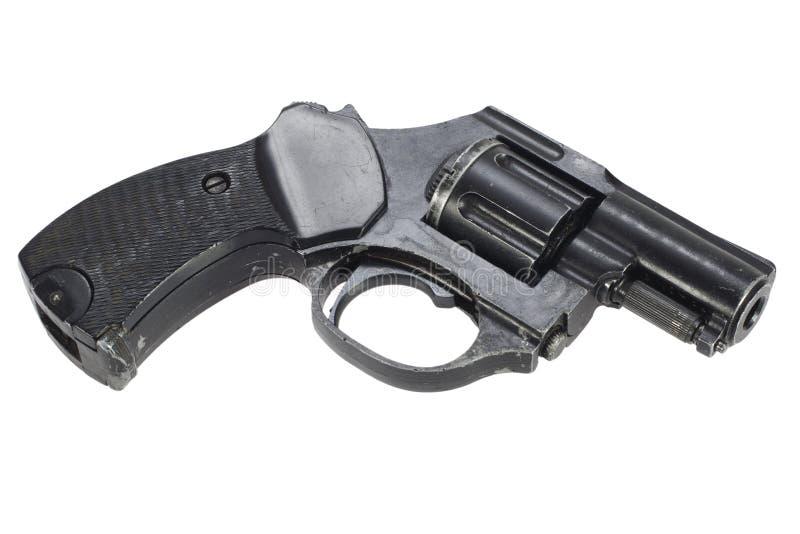 Revolver d'isolement sur un blanc image stock