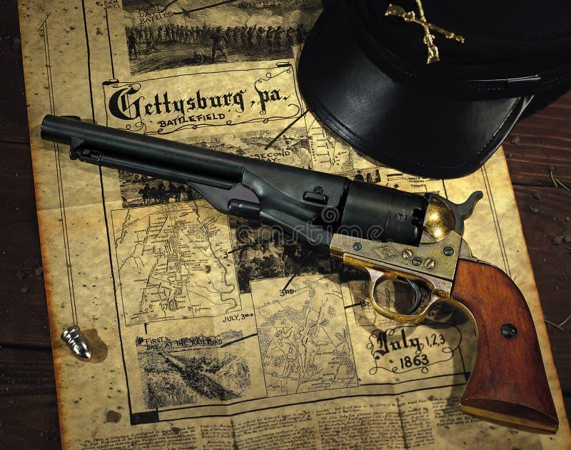 Revolver di guerra civile fotografia stock