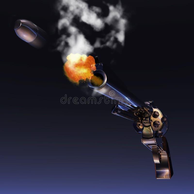 Revolver. Digital Illustration of a Revolver stock illustration