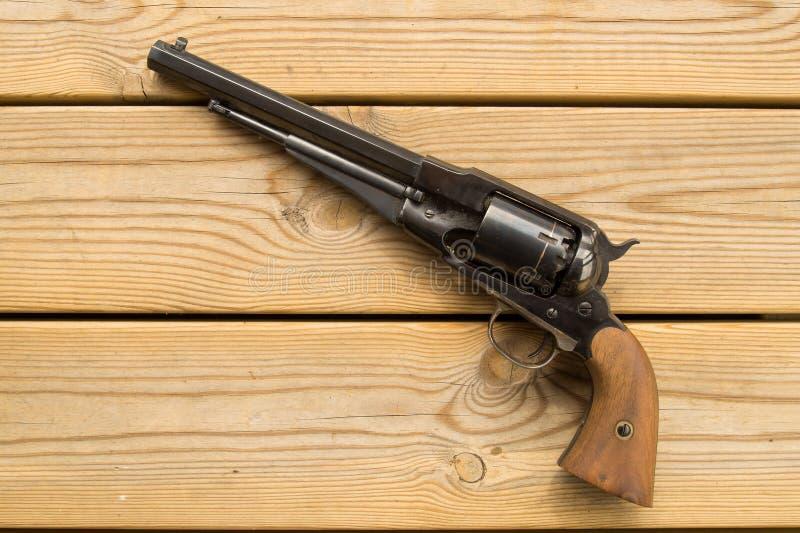 Revolver för svart pulver royaltyfri fotografi