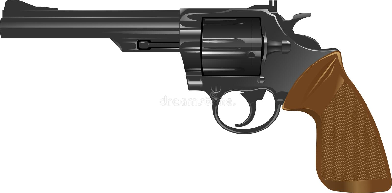 Revolver gun royalty free stock image