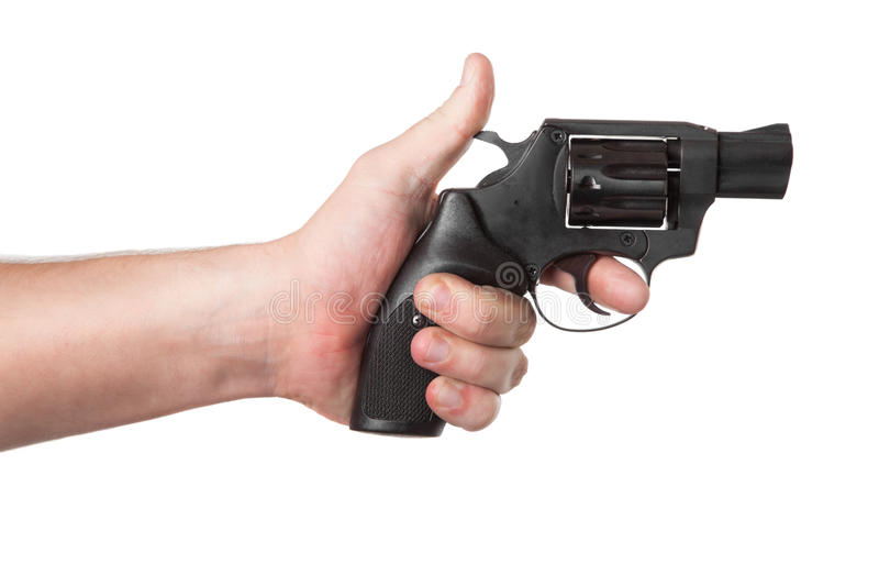 Download Revolver Gun in hand stock photo. Image of attack, robber - 21731744