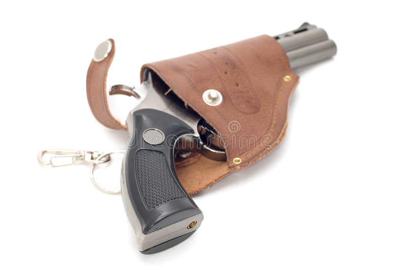 Revolver and holster stock photo